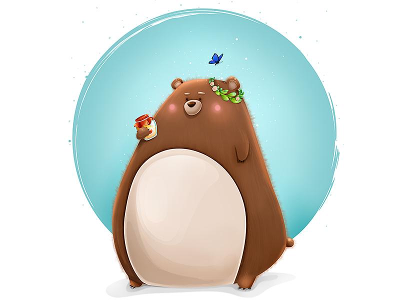 Mr. Bear  fatso character honey bear