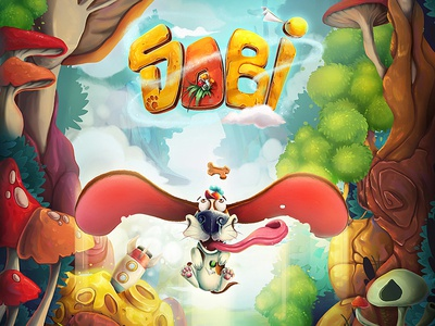 Sobi Game dog puppy mobile game game design illustration characters app game