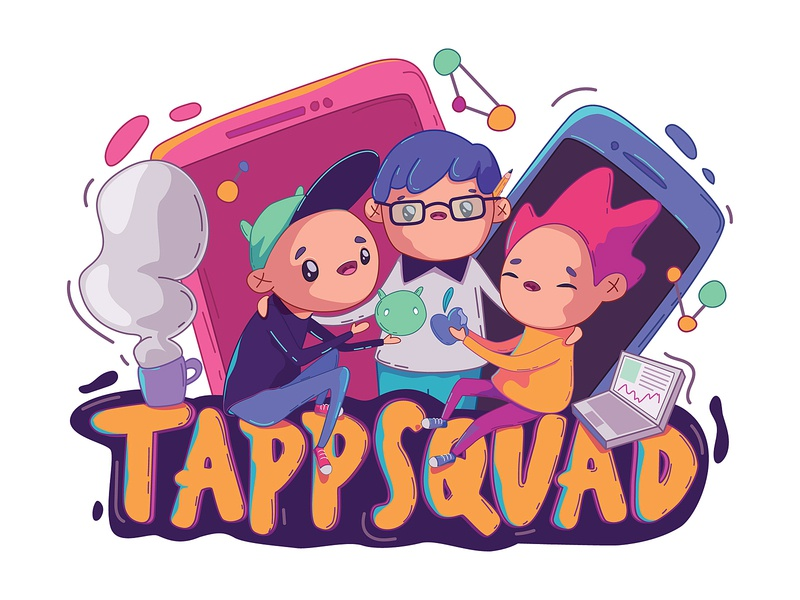 TappSquad appdevelopment concept android ios design vector character design character illustration