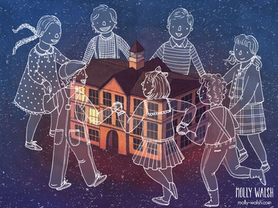 The Old School House traditional illustration digital illustration editorial illustration illustration