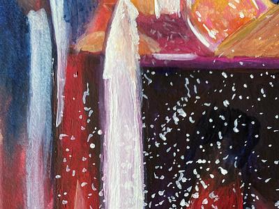 Cinnamon Stick gouache colorful illustration drawing