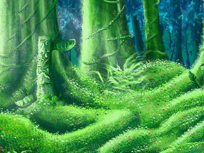 Hammock Swamp swamp colorful illustration drawing