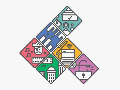 Google Public Policy icon system copyright economic impact data family internet system icons google