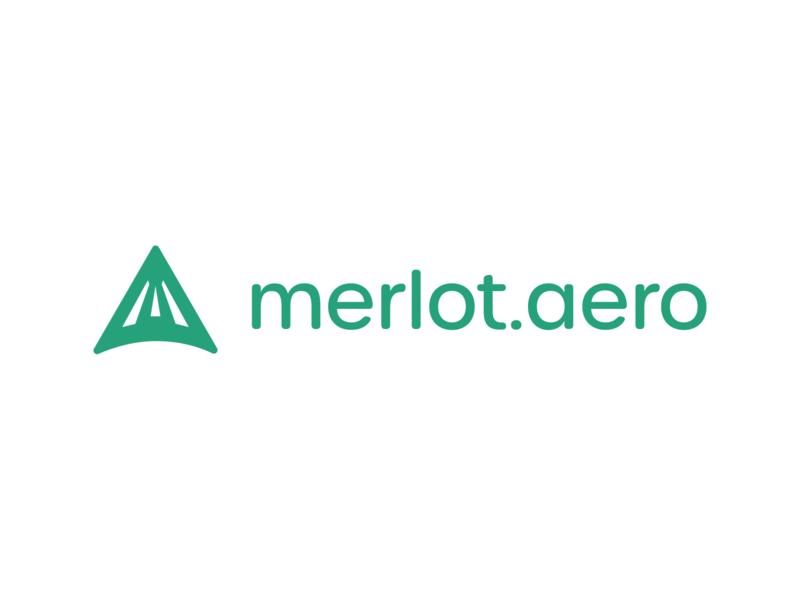 merlot.aero logo design branding logo illustration