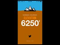 Elevation App Mockup iOS