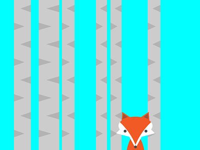 Fox in Aspens illustration colorado fox aspens