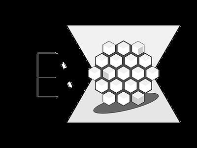 Team Logo for Upcoming Hackathon payments logo teamwork hex hackathon