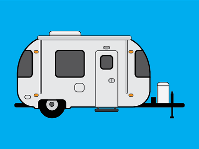 Ready for the Summer travel trailer summer airstream illustration