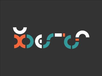 Logo - UX CoP  three pointer retro illustrator