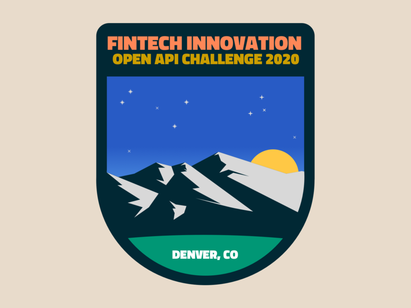 FinTech Innovation Event Badge Brand PoC snow payments logo mountains colorado hackathon branding design