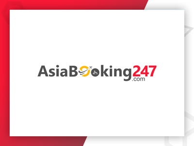 AsiaBooking247 Logo Design by Pixlogix