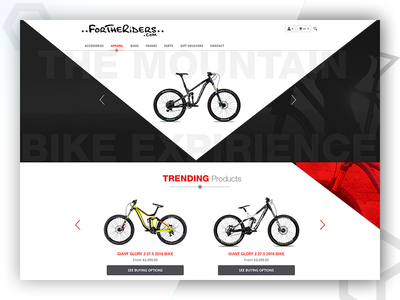 ForTheRiders - Web Design & Developed BY Pixlogix