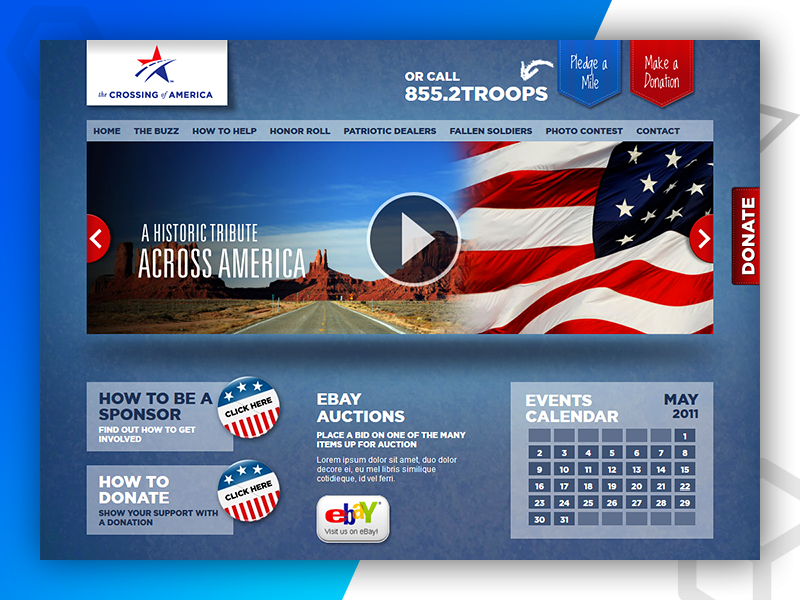 The Crossing of America - Web Design and Developed By Pixlogix web development web design graphic design