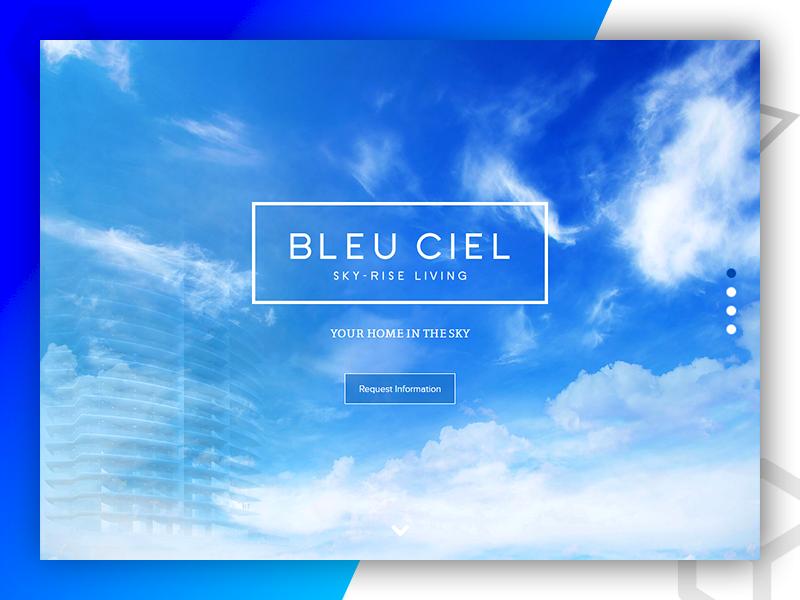 BlEU CIEL web development web design graphic design