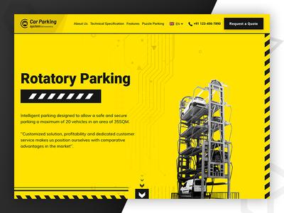 Custom Website for Car Parking System