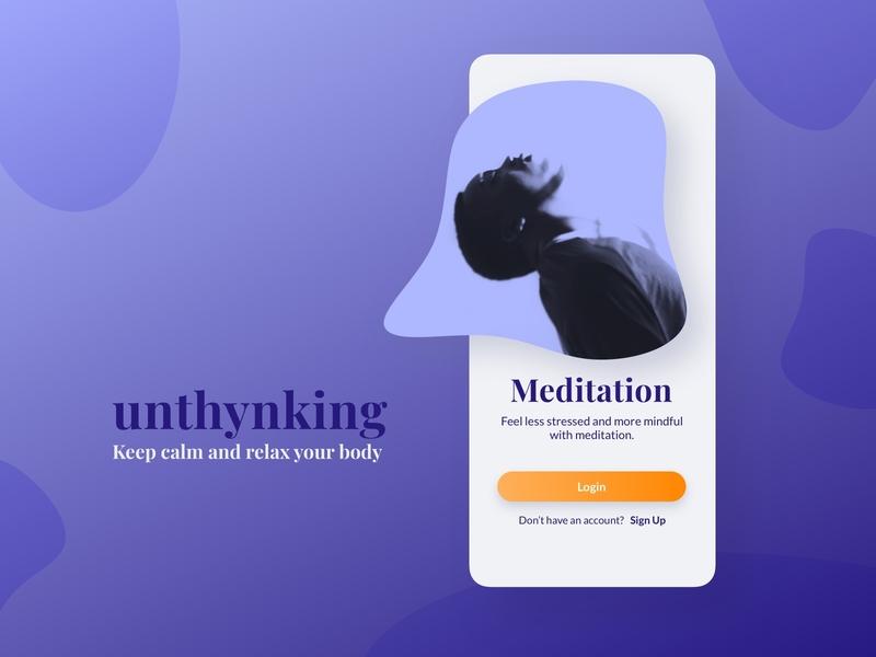 Welcome Screen welcome screen onboarding ui mobile app design app ux ui design ui welcome mobile design mobile app meditation