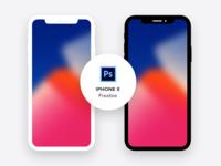 iPhoneX - Minimal Freebie (PSD)