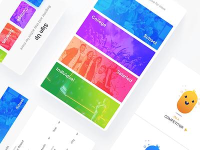 Talent App ui latest trend ux design ux uidesign ui minimal signin signup dashboard homepage home