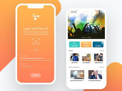 Face ID  |   News Application login face id face id i phone x login id login ux ui login