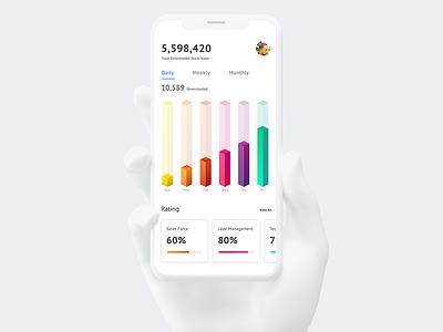 Data Analytics Dashboard ux uix ui statistics growth sales app data analytics app big data app big data