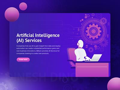 Artificial Intelligence Service future app robotics robotics engineering big data uix ux ui artifical intelligence ai