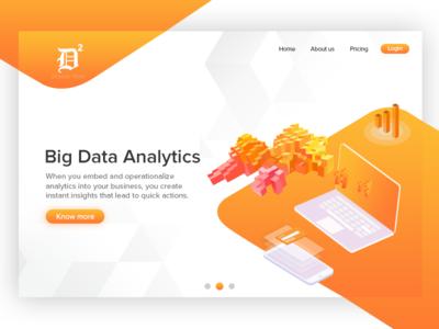 Big Data Analytics dineshdino uix ux ui statistics growth sales app data analytics app big data app