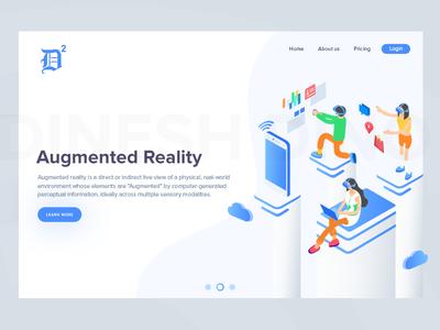 Augmented Reality virtual reality. ui ui ux future app dinesh augmented reality