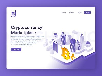 Cryptocurrency Marketplace uix ui ux bitcoin  technology bitcoin logo digital money digital digital currency bitcoin marketplace cryptocurrency