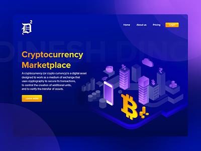 Cryptocurrency Marketplace Dark Version uix ux ui marketplace digital money digital currency digital cryptocurrency bitcoin technology bitcoin logo bitcoin