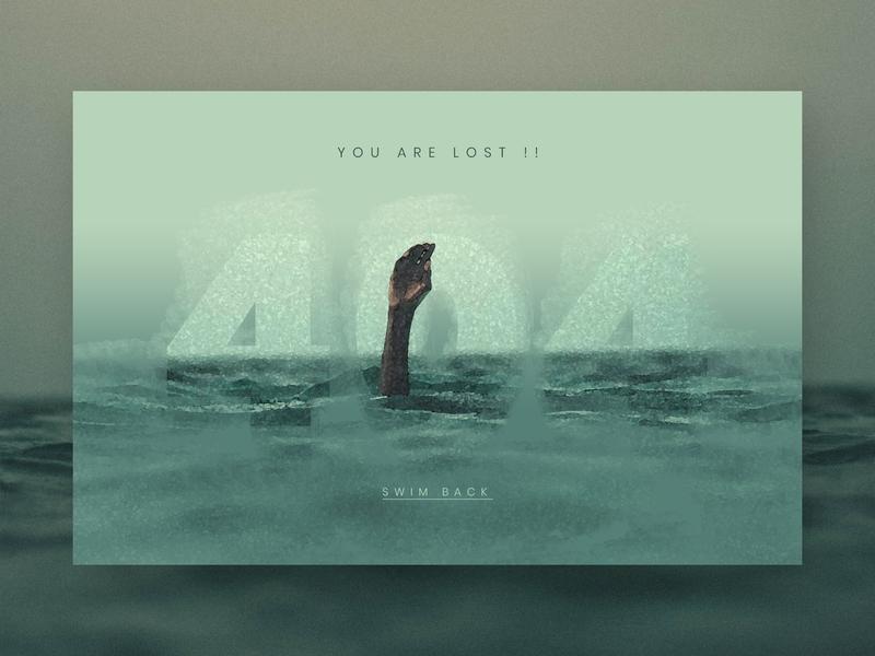 404 - You are Lost !!! illustration dark help brushes water color art ux ui clean creative web design design lost drawn not found 404 error 404 error page 404error 404 page 404