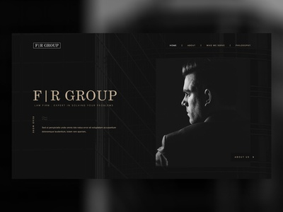 Dark Law Firm Web Design