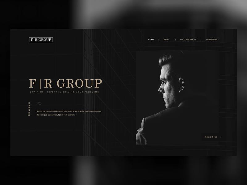 Dark Law Firm Web Design lawyers lawyer law enforcement law office law firm lawfirm law black and white dark black ux creative web design ui design