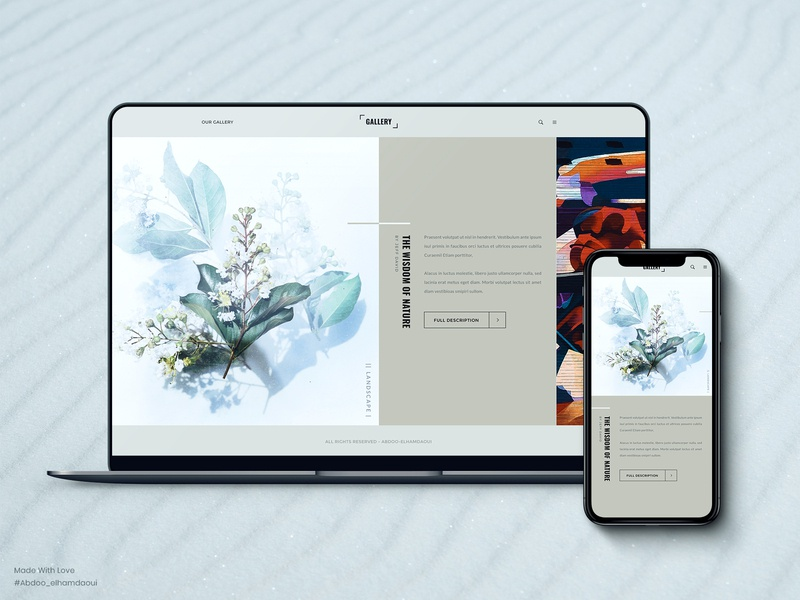 Gallery - Web Design For Art Agency bootstrap vector illustration portfolio art colors clean ux creative web design ui design