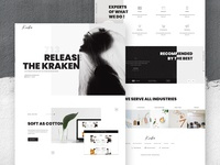 Release The Kraken - Creative agency UI Design