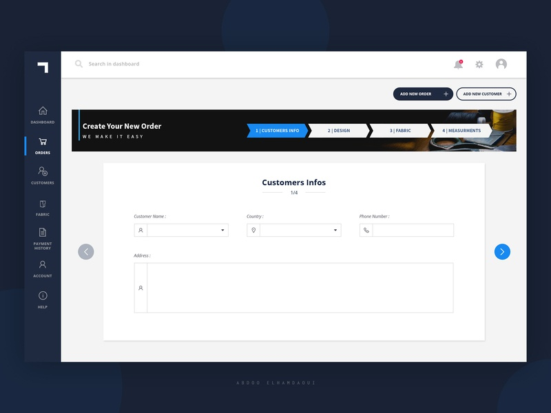 Process Dashboard Concept Design dashboard template black steps process creative clean design web design ui dashboard ui dashboad dash