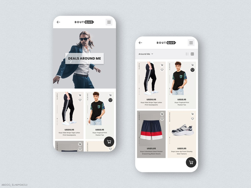 Boutique - Men Shopping App Design luxury design luxury mobile app design mobile design app clothes men shopping cart shopping shopping app shop black ux clean creative web design ui design