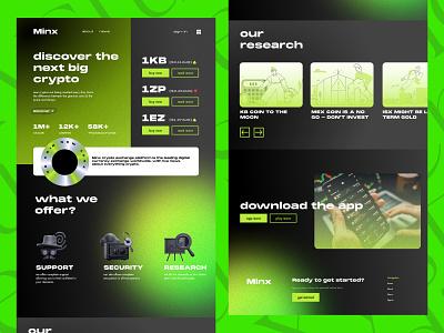 Minx Online Crypto Market typography design branding logo 3d
