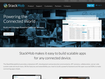 NEW StackMob Website website site design web design ui