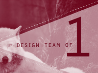 Article: Design Team of 1
