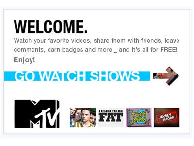 MTV Shows Welcome