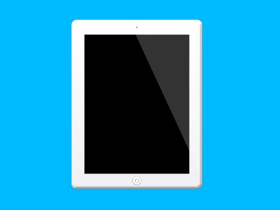 An iPad or something rebound apple ipad vector illustration icon