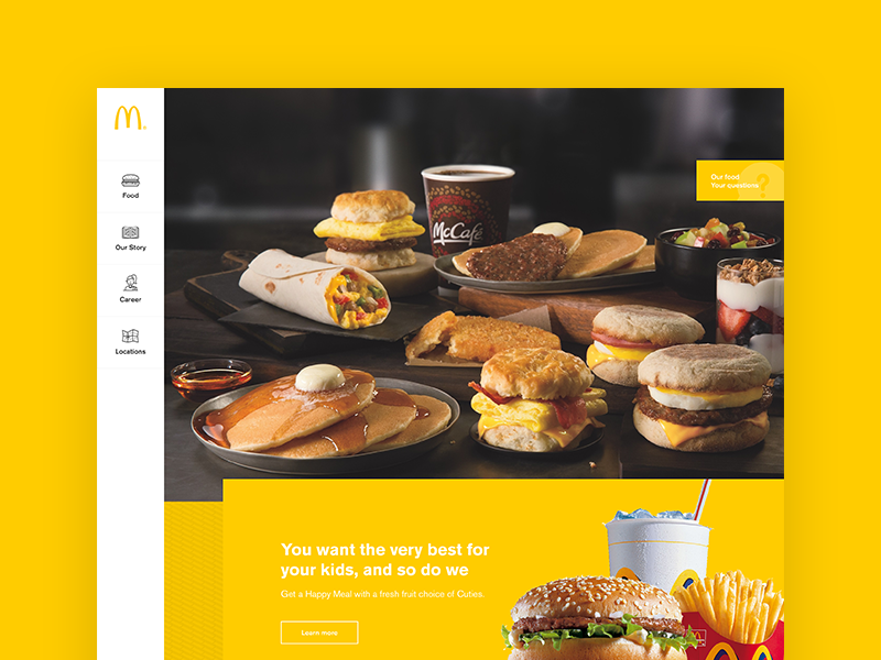 McDonald's food ux ui redesign mcdonalds