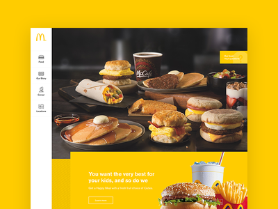 McDonald's food ux ui redesign mcdonalds