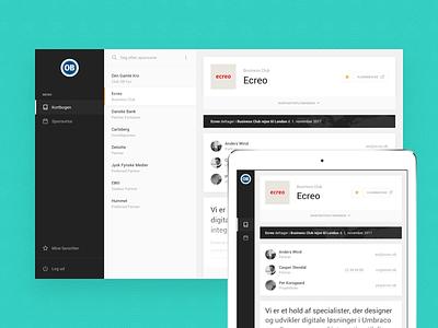 Progressive Web App tablet webapp dashboard pwa