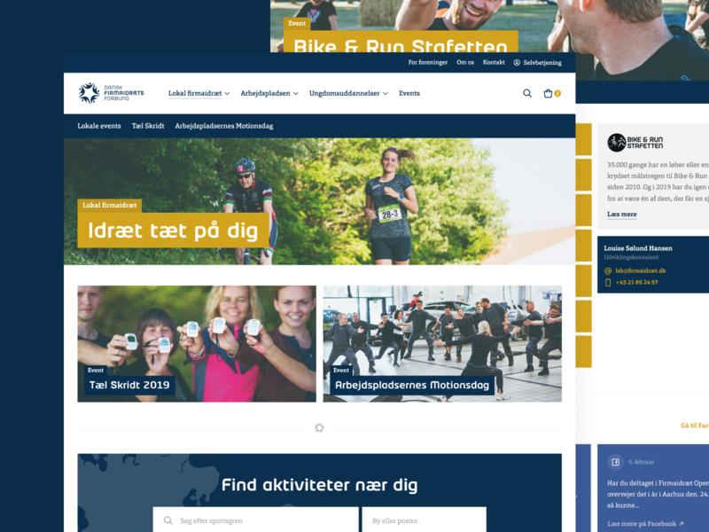 Danish Company Sports Association rebrand association sport redesign