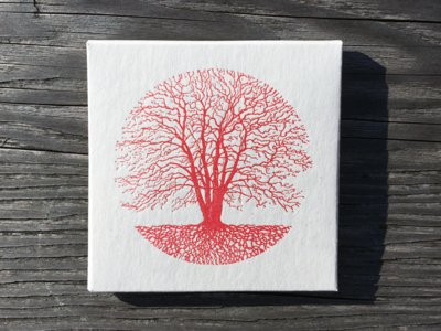 Silent Season Tree Letterpress