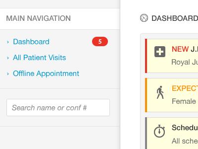 Nurse Overview dashboard html