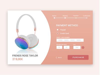 Credit Card Checkout - Daily UI #002 web credit card webdesign design ui checkout ecommerce shop modal dailyui 002