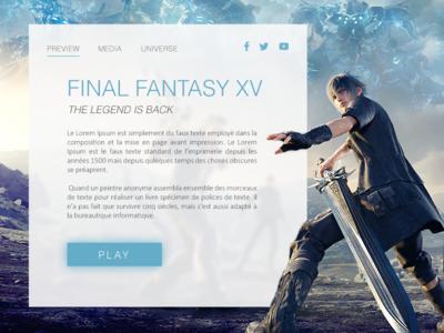 Landing Page - Daily UI #003 final fantasy video games landing page website webdesign web ui dailyui 003