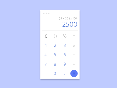 Calculator - Daily UI #004 number minimal calculator app application ui dailyui 004